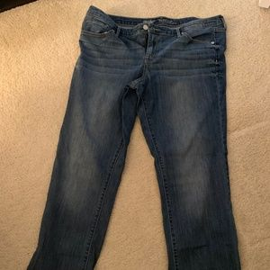 Mossimo Blue Mid Rise Straight Leg Jeans (16)